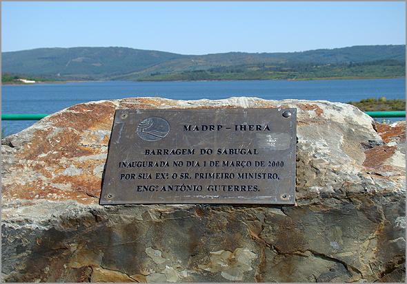 Barragem do Sabugal foi inaugurada em 2000 pelo primeiro-ministro António Guterres - Capeia Arraiana