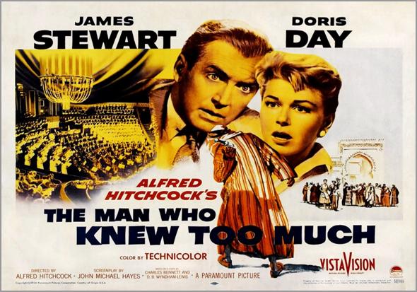 O Homem que sabia demais, filme de Alfred Hitchcock com James Stewart e Doris Day - Capeia Arraiana