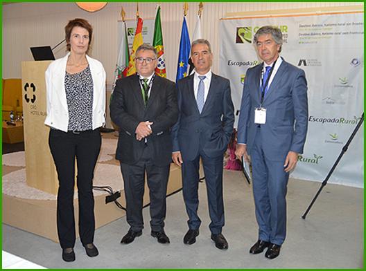 Ana Alonso (Escapa Rural), António Robalo (Presidente da Câmara Municipal do Sabugal), João Paulo Catarino (secretário de Estado) e Pedro Machado (Turismo Centro de Portugal)