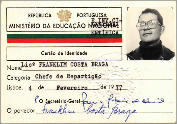 Cartão de Chefe de Repartição de Franklim - Capeia Arraiana