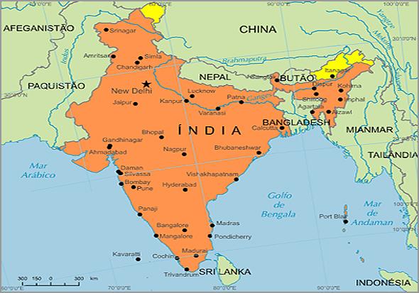 Mapa da ìndia