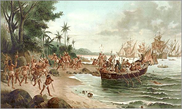 Armada de Pedro Álvares Cabral chega ao Brasil