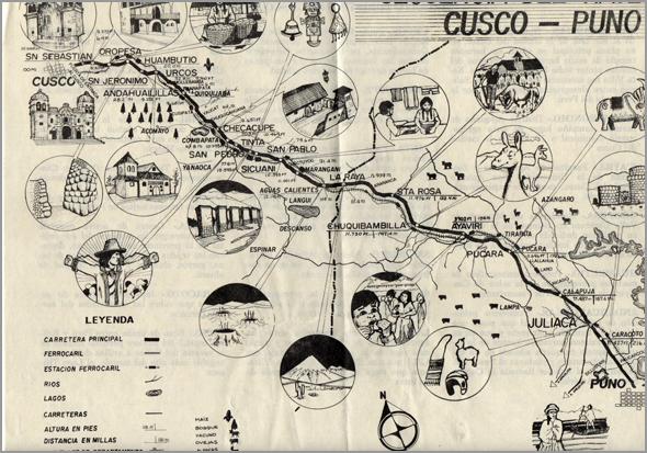 Trajecto do combóio de Puno a Cuzco