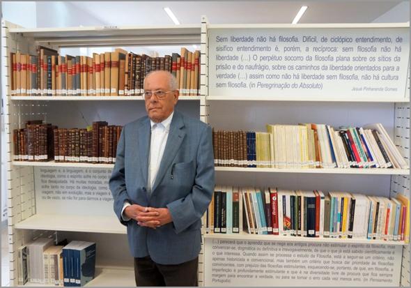 Jesué Pinharanda Gomes no Centro de Estudos com o seu nome no Sabugal