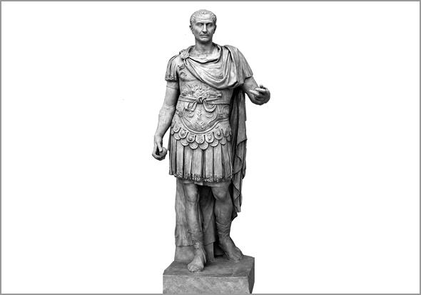 Júlio César. Estátua existente no Forum Romano, na cidade de Roma - capeiaarraiana.pt