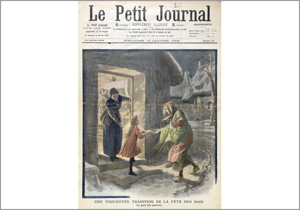 "Página ilustrada do suplemento dominical do ""Petit Journal"" de 12 de Janeiro de 1908"