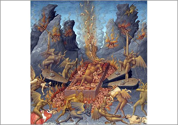 Inferno. Livro de Horas do Duque de Berry (cerca de 1415)