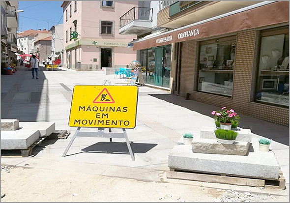 Obras na Rua Principal do Sabugal