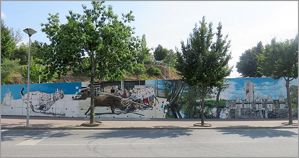 Mural no Mercado Municipal do Sabugal