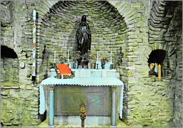 Interior da Casa de Nossa Senhora em Éfeso