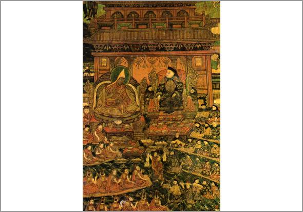 Uma sala do 'palácio Potala