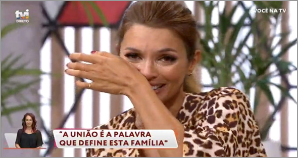 Maria Cerqueira Gomes chora no programa Você na Tv (ver nota n.º 15)