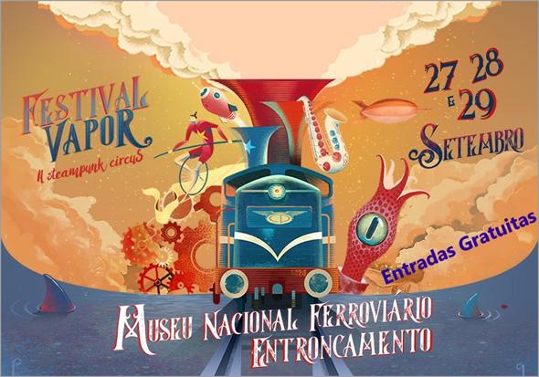 II Festival Vapor no Museu Nacional Ferroviário no Entroncamento