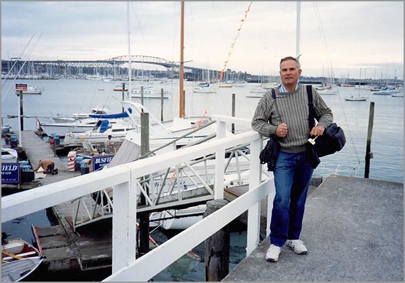 Franklim junto à baía de Auckland