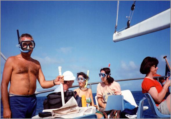 Franklim no barco em Cairns