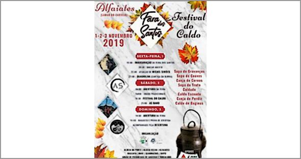 1, 2 e 3 de novembro, Alfaiates (Largo do Castelo): 'Feira dos Santos'