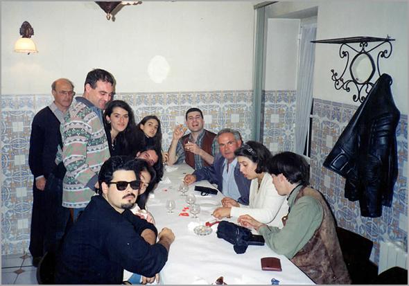 No restaurante O Mosteiro, onde se juntou o sobrinho do Franklim