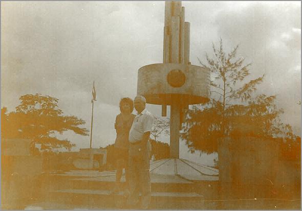 Franklim com a Ânia Borrego no monumento ao Che em Sta Clara