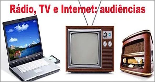 As audiências na Rádio, Televisão e Internet