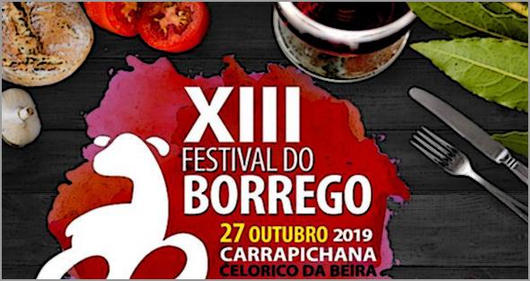 No dia 27 de Outubro: Festival do Borrego - Carrapichana, Celorico da Beira