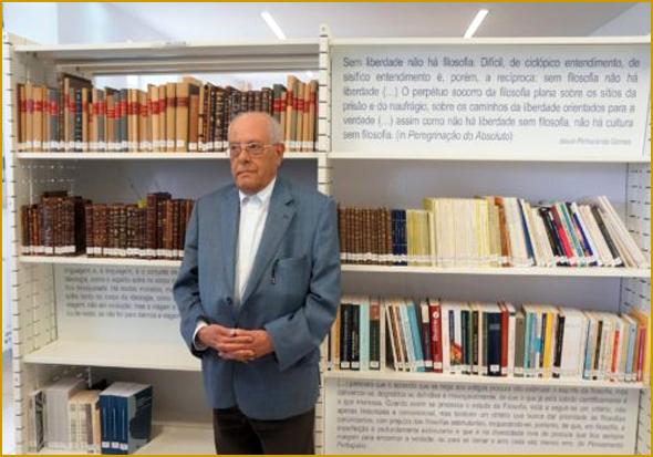 Jesué Pinharanda Gomes no Centro de Estudos com o seu nome no Sabugal (Foto: C.M. Sabugal)