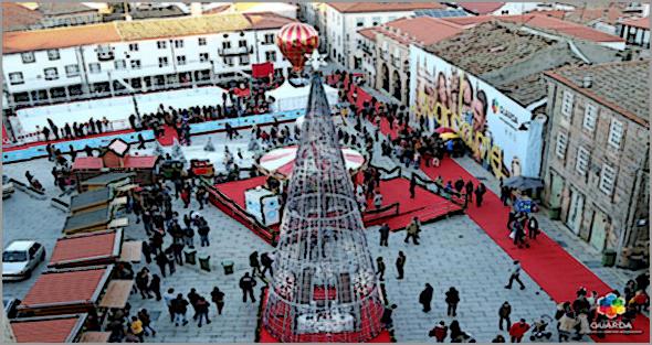 Guarda: a Cidade já está iluminada para o Natal! (Foto: C.M. Guarda)