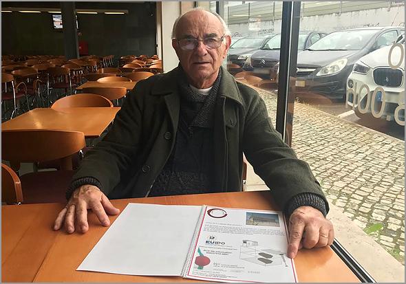 João Alves com as patentes registadas para Portugal e Europa