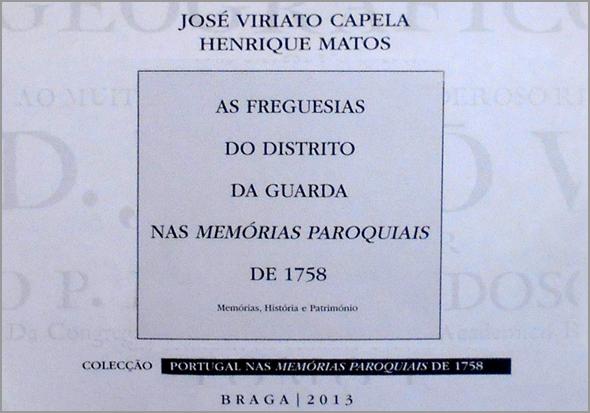 Memórias Paroquiais de 1758