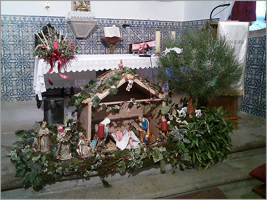 Presépio na igreja de Águas Belas - capeiaarraiana.pt