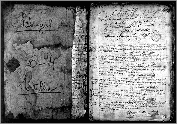 Livro dos Assentos dos Óbitos do concelho de Sortelha
