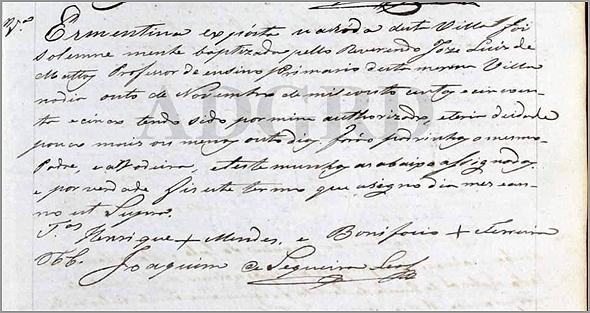 1855 – O Reverendo José Luís de Matos é professor do ensino primário