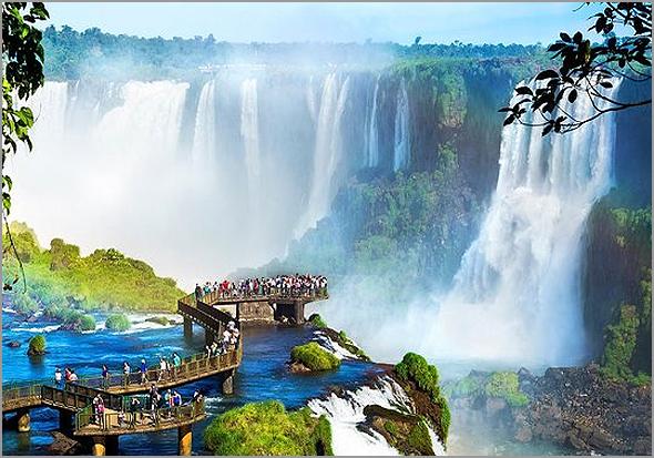 Cataratas do Iguaçú no Brasil