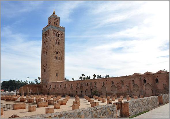 Koutoubia de Marraqueche em Marrocos