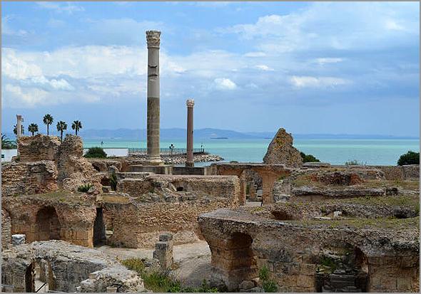 Ruínas de Cartago na Tunísia