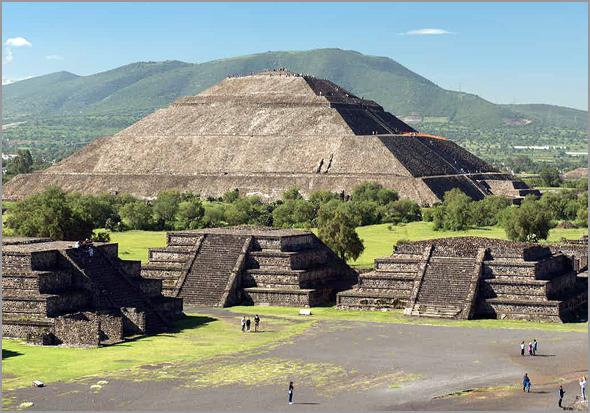 Templo de Teotiahuacan no México