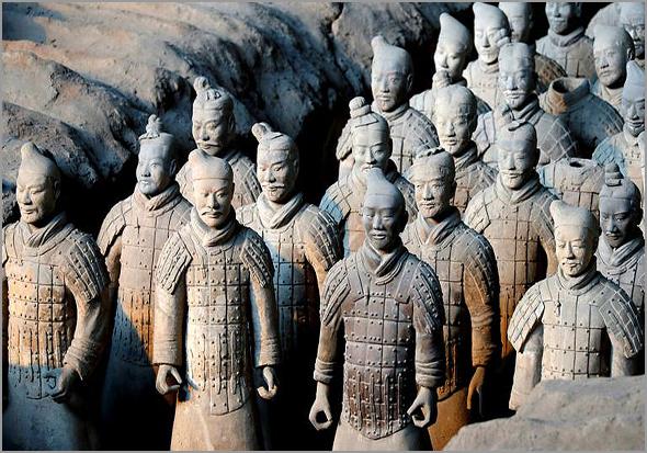 Guerreiros de Xian na China