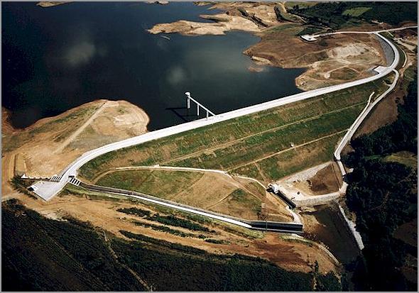 Barragem do Sabugal no rio Côa