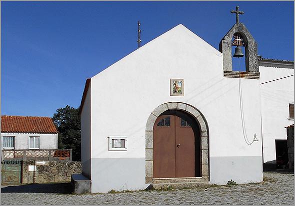 Capela de São Sebastião em Águas Belas no concelho do Sabugal