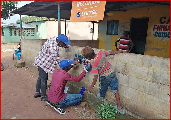 Trabalho prático no terreno com a juventude