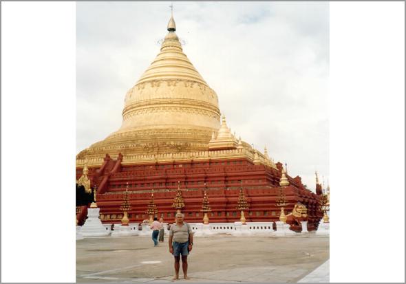 Pagode de Shewedagon em Rangun