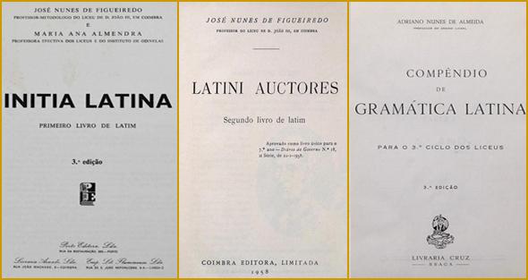 Livros de Latim do Curso Complementar Liceal
