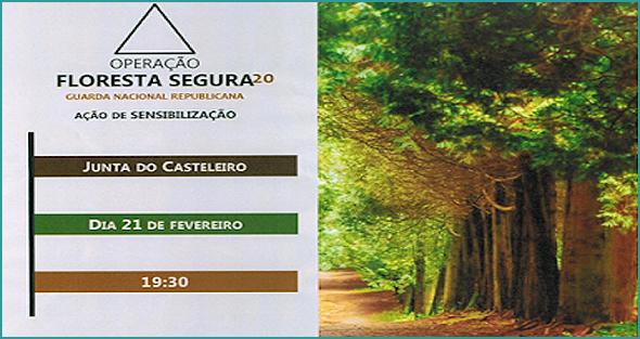 GNR da Guarda vai ao Casteleiro ajudar a manter a floresta segura