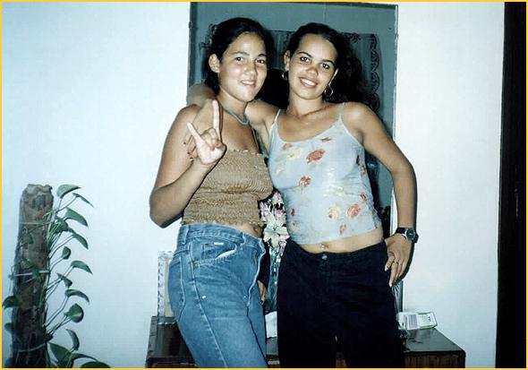 As 2 irmãs no quarto da Edelsa
