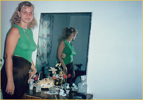 Vivian no quarto da Edelsa