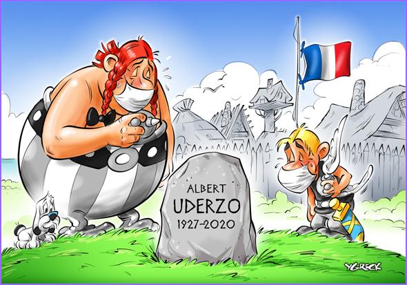 Albert Uderzo, um dos pais de Asterix, faleceu no dia 24 de Março com 92 anos
