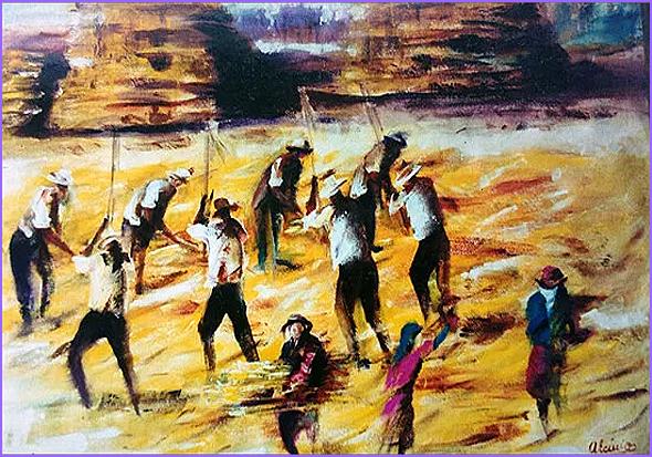 A Malha - pintura de Alcínio Vicente
