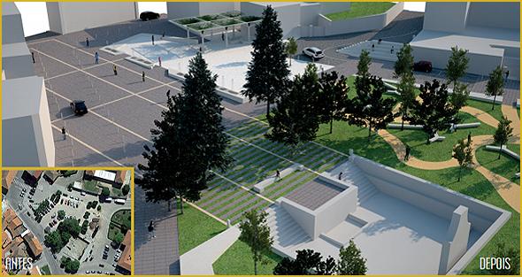 Projecto das obras de renovação do Largo da Fonte do Sabugal