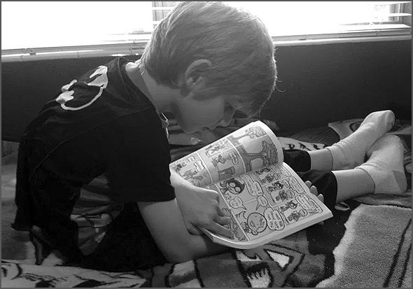 Primeira leitura foi um livrinho de banda desenhada
