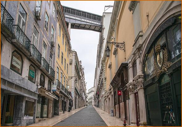 Rua do Carmo em Lisboa como nunca se viu