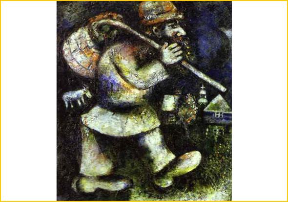 O Peregrino - O Judeu Errante – Marc Chagall